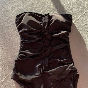 Jantzen Black strapless swimsuit size 10